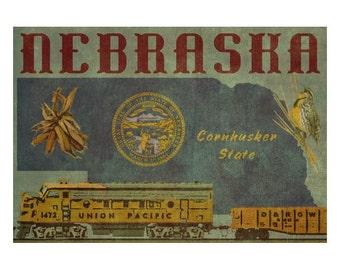 NEBRASKA 1FS- Handmade Leather Journal / Sketchbook - Travel Art