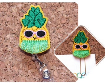 Retractable Badge Reel, Cool Pineapple, Planner Clip, Felt Badge Holder, Lanyard, Planner Accessories, Paper Clips, Magnets, Pins, 1494