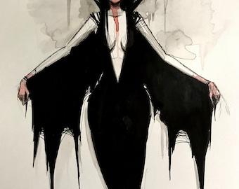 vampire - ORIGINAL - 7x9