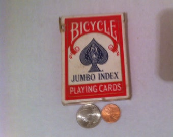 Vintage Poker Playing Cards, Bicycle Jumbo Index, 5 Card Stud, 21, Poker, Playing Cards, Made in USA,  Gambling, Cards