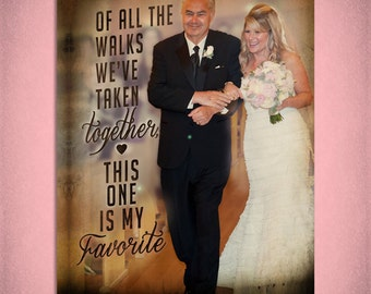 Father of the Bride Personalized Canvas Wall Art