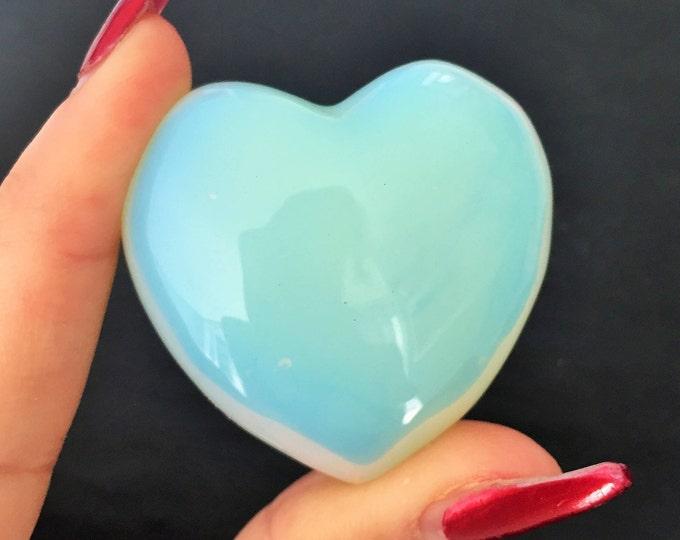 Opalite Heart, Healing, Crystals and Stones w/ Reiki. Crystal Grid, Chakras, Meditation