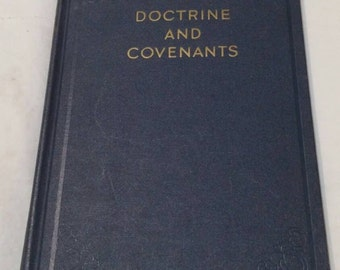 On Sale Antique Collectible Doctrine and Covenants Hardback Book 1955 Religious Book