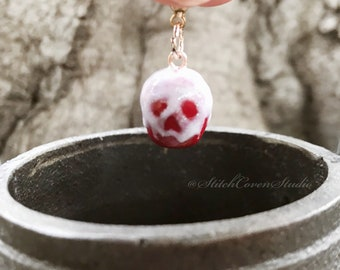 Poison Apple Progress Keeper; Polymer Clay Charm