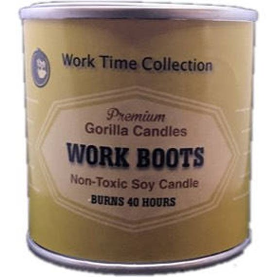 Work Boots New Leather Candle Working Man Scents