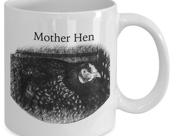 Gifts For Chicken Lovers–Mother Hen Mug–Perfect for Mother's Day, Birthdays