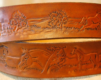 Extravagant leather belt
