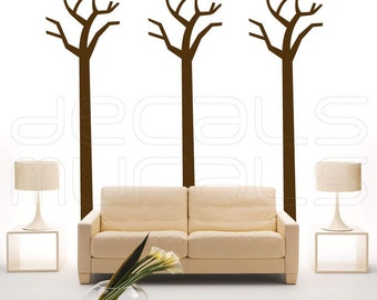 Wall decals TALL SIMPLE TREES Vinyl stickers - Art graphics for walls by Decals Murals - Large