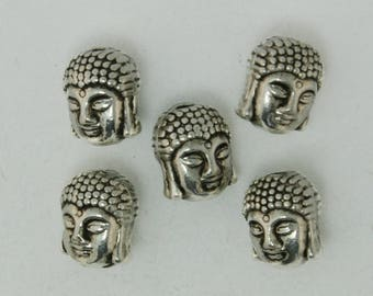 Fashion 30Pcs/lot Antique Silver Plated Buddha head Alloy Charms & Pendant Fit Making DIY CN-BJI610-69