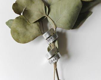 Metal Stamped Wrap Ring