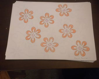 flower drawings set 1