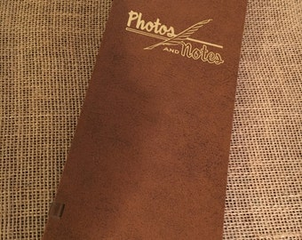 Vintage Webway Photo Album for Instamatic / Poloroid Photos and Notes