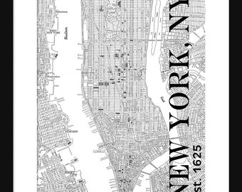 new york city map manhattan street map vintage manhattan