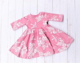 Floral Dress, Baby Dress, Vintage Dress, Newborn Dress, Coming Home Outfit, Baby Bird Dress, Rose Dress, Pink Baby Dress, Floral Baby Outfit