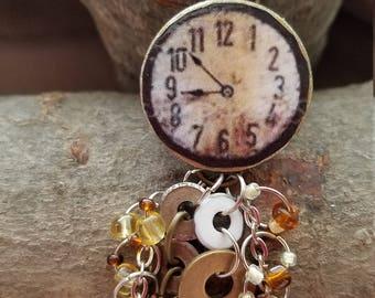 Faux clock pendant 4