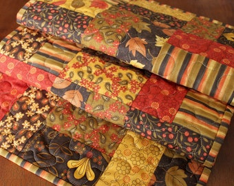 Fall Table Runner, Quilted Thankgiving Table Runner, Phenomenal Fall Table Runner, Fall Table Runner, Yellow Tan Brown, Fall Decor, Autumn