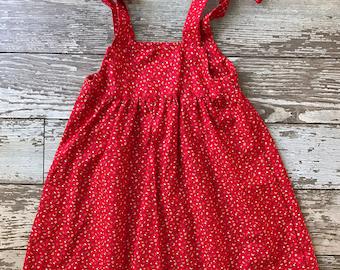 Red Floral Sundress