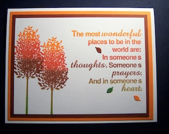 Two Gentle Trees Encouragement Card