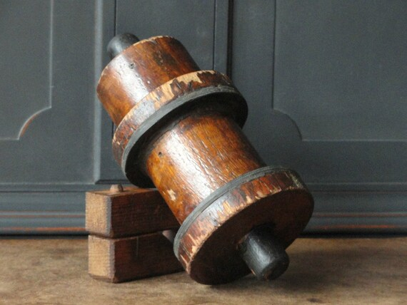 Items similar to Vintage Industrial Wood Mold, Foundry, Natural Dark ...