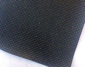 Black Grid - Print Faux Leather