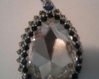 Clear Swarovski Pear Pendant