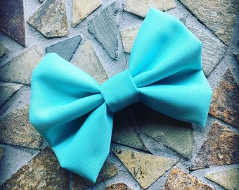 Solid Turquoise Fall Hair Bow Set Of 2