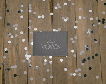 "LIMITED EDITION - ""His Vows"" - Foil Stamped Vow Holder"