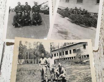 Vintage Military Photos ~ Set of 3 ~ 1950's ~