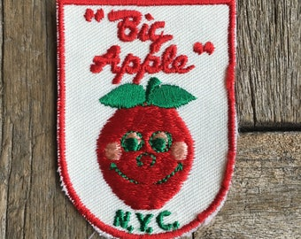 Big Apple New York City Vintage Souvenir Travel Patch from Voyager