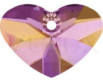 Wholesale Swarovski Crazy 4 U Heart 6260 - 27 MM Astral Pink (API)