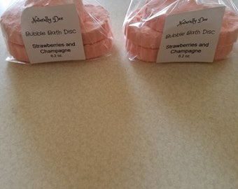 Bubble Bath Disc - Strawberries and Champagne