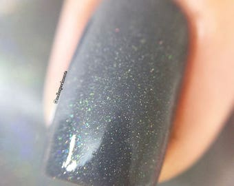 Be Still. 15 ml Grey shimmer nail polish