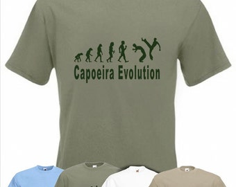 Evolution To Capoeira t-shirt Funny Brazilian martial art T-shirt sizes S TO XXL