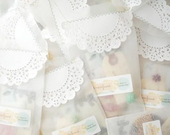 Flat Glassine Bags - 4 inch x 7.5 inch - Business Card Size - Favors, Treats, FDA Approved for Food Contact