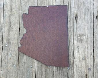 state of Arizona, Arizona wall hanging, rustic arizona decor, rustic tin arizona decor, tin arizona decor, arizona decor, arizona