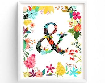 Garden Series Ampersand, Monogram, Floral, Flower Lettering