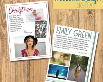Full pg Ad | Custom Ad Design | Senior Yearbook Ads | Print Advertisement