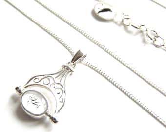 ONLY ONE - Tiny Decision Maker heirloom charm NECKLACE in solid sterling silver