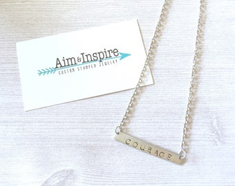 COURAGE Large Bar Necklace