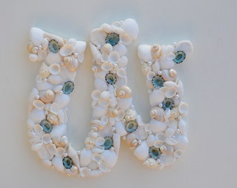 Beach Decor, Seashell Letters, Shell Letters, Seashell Initial, Nautical Decor, One Shell Letter, Nursery Decor, Beach Wedding Decor