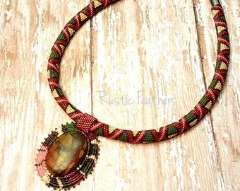 Multi-colored Peyote Necklace