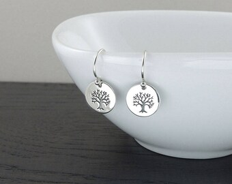 Tree of Life Earrings - Sterling Silver Earrings, gift for mom, dangle earrings, silver earrings, nature jewelry, mothers day gift, tree