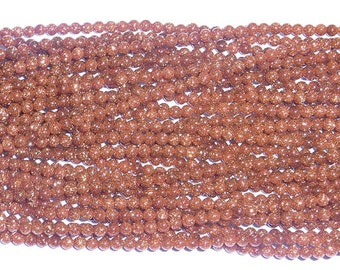2mm Round Goldsandstone Gemstone Beads 15 inches length, 38 cm-