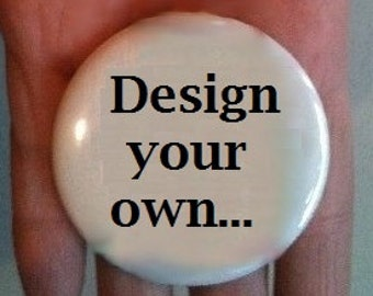 "2.25"" Pin or Magnet back button, round circle - Design your own"