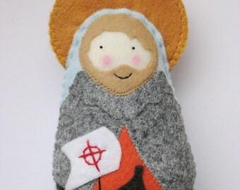 Saint Brendan Felt Saint Softie