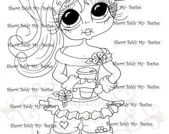 INSTANT DOWMLOAD Digital Digi Stamps Big Eye Big Head Dolls Digi  My Besties IMG845 By Sherri Baldy