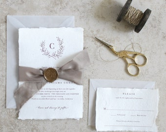 Custom Wedding Invitations and Stationery by JenSimpsonDesign