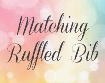 Matching Ruffled Bib