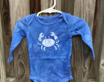 Crab Baby Bodysuit, Blue Crab Baby Bodysuit, Maryland Crab Baby Gift, Baby Boy Crab Bodysuit, Baby Girl Crab Bodysuit (9 months)