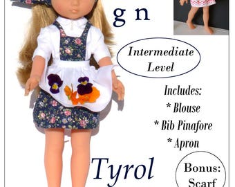 Pixie Faire Karen Lorraine Design Tyrol Doll Clothes Pattern for Corolle Les Cheries Dolls - PDF